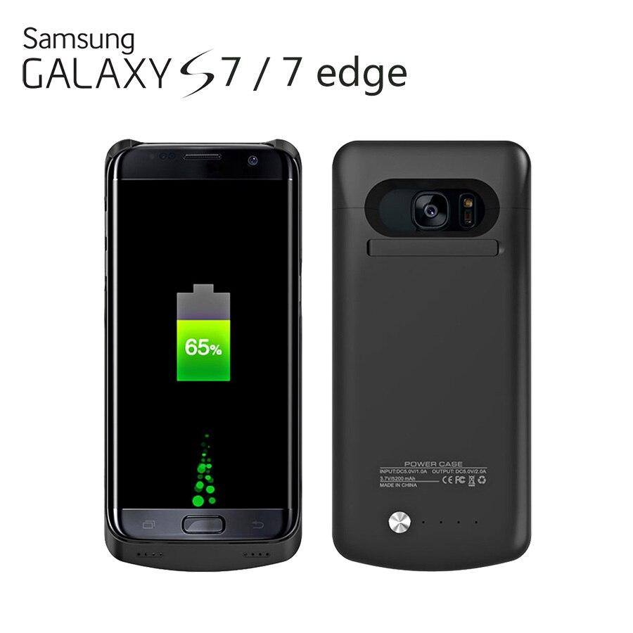 imágenes para Para SAMSUNG GALAXY S7/S7 BORDE Caso del Cargador de Batería de Reserva Externa Recargable Cargador de la Energía Bank Funda Encaja