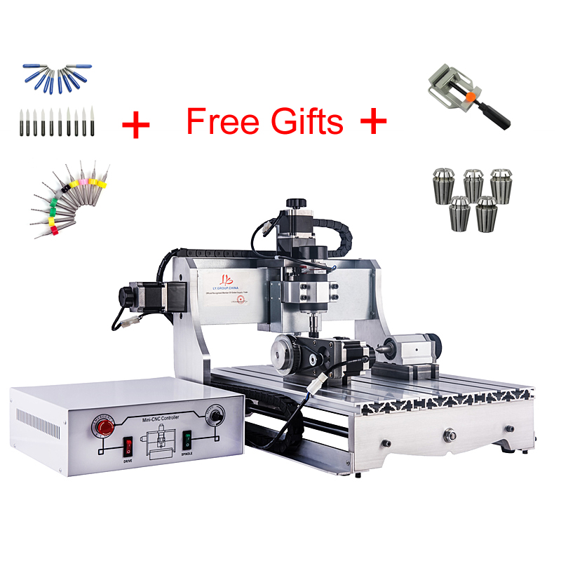CNC Mini Lathe 4030 Z-D 300W Spindle Engraving Machine, 4axis  Milling Machine For Wood Machinery