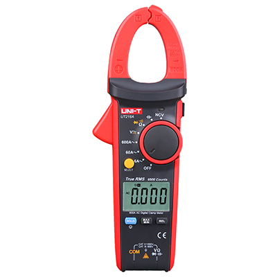 UNI-T UT216A NCV Capacitance AC/DC Voltage Current Ohm Tester Mini True RMS Digital Clamp Meter With Auto Range цена