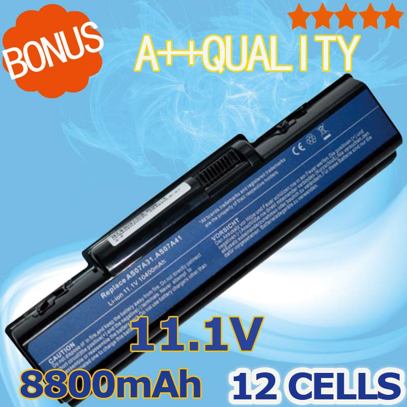 8800mAh AS07A71 AS07A72 AS07A75 Battery for AcerAspire 4310 4320 4336 4520G 4710 4715Z 4720G 4730 4730Z 4736 5235 5334 5732Z image