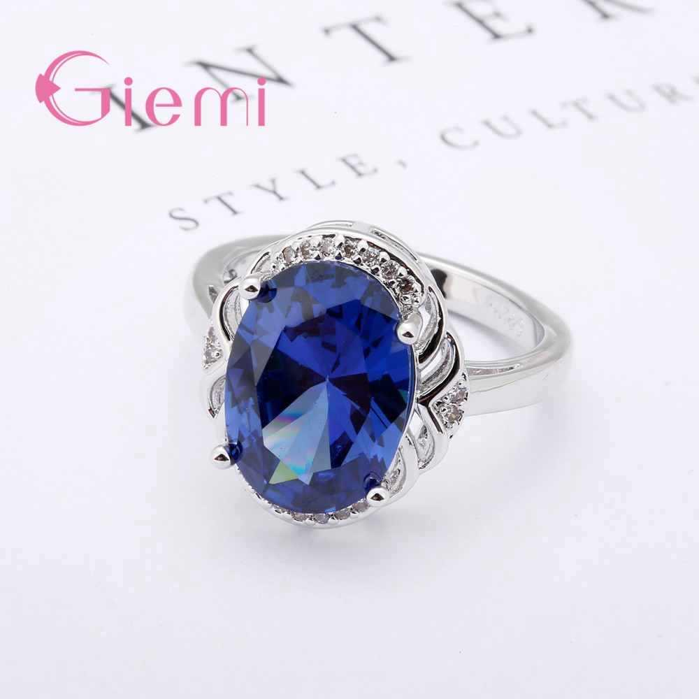 925 เงินวงแหวนผู้หญิงผู้ชายเครื่องประดับ Vintage CZ หมั้นแหวนขนาด 5 ถึง 9 ปีของขวัญ