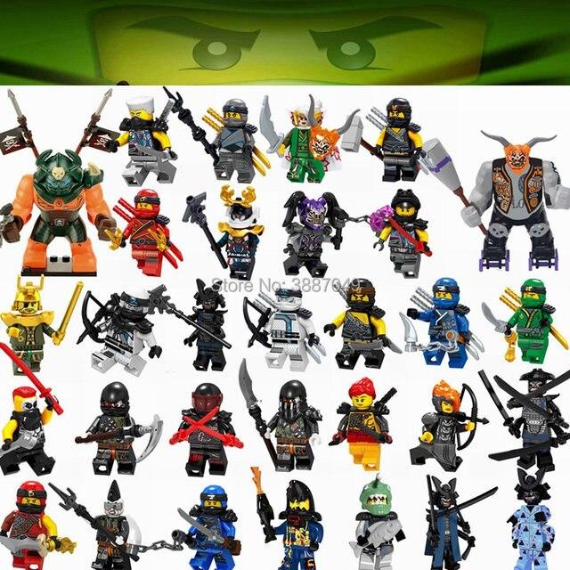 Legoing Ninjagoing Figuras Cole Jay Kai Zane Lloyd Garmadon Mestre Wu Nya Harumi Legoings Hutchins Building Blocks Brinquedos Para Crianças