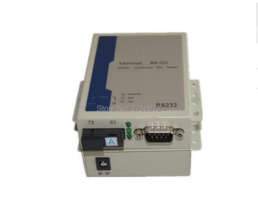 1 Pair RS232 to fiber optical cat industrial lightning surge 232 Fiber Optic Transceiver Singlemode single