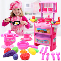 HUAILE Kitchen Children Play Baby Kitchen Playset Gifts For Kids Play Food Fruit Vegetables