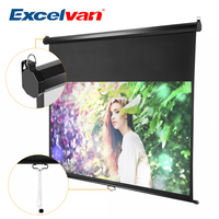Excelvan 100 inch 16:9 Ratio 1.1 Gain Manual Pull Down Projection Projector Screen Auto Self Locking Waterproof Screen
