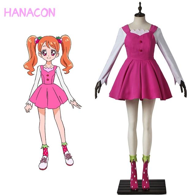 KiraKira Pretty Cure A La Modus Cosplay Heilung Peitsche Kleid Cosplay Usami Ichika Rosa Anzug Täglichen Kostüm Halloween Kundenspezifische