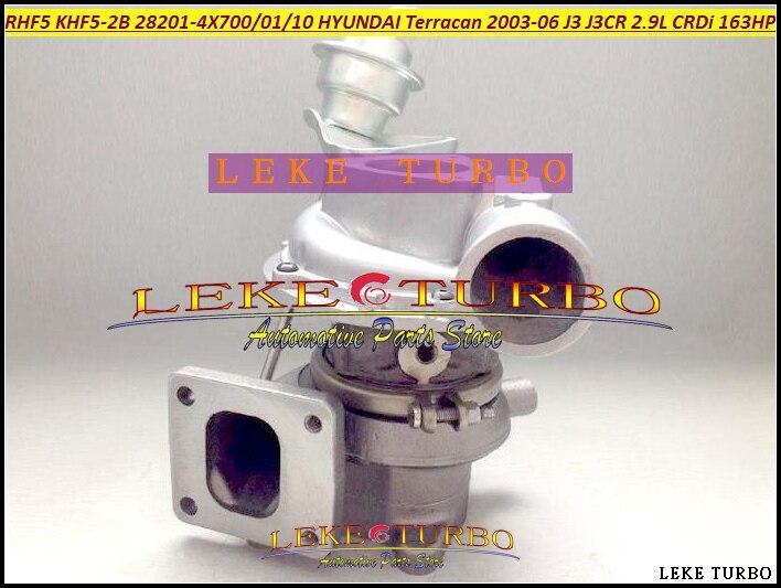 RHF5 282014X700 KHF5-2B 28201-4X700 28201-4X701 28201-4X710 Turbo Turbocharger For HYUNDAI Terracan Car J3 J3CR 2.9L CRDi 163HP yb1302001 car turbo sound whistling turbocharger silver size l
