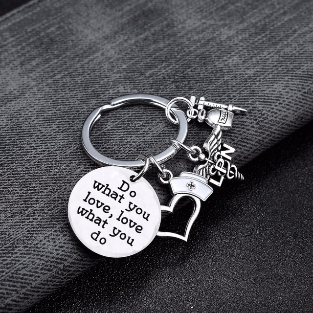 Do What You Love Love What You Do Keyring Traveler Nurse Doctor Sports Fitness Weightlifting Keychain Gifts Women Men Key Chain
