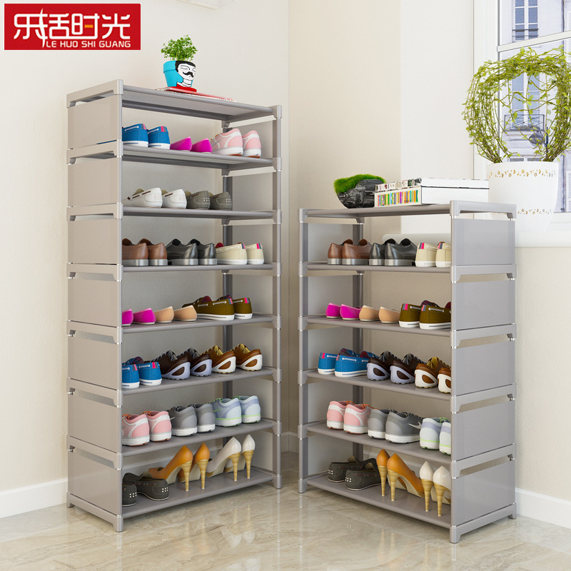 Simple Assembled Shoe Rack Nonwoven Storage Cabinets Shoes Shelf Hallway Furniture Over The Door Saving Space Shoe Organizer