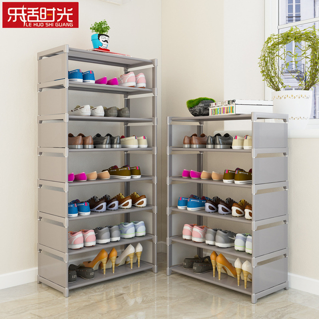 Simple Embled Shoe Rack Nonwoven Storage Cabinets Shoes Shelf Hallway Furniture Over The Door Saving E Organizer