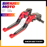 CNC Motorcycle Foldable Lever Motocross Brake Clutch Levers Case for Ducati 796 MONSTER 2011 2014