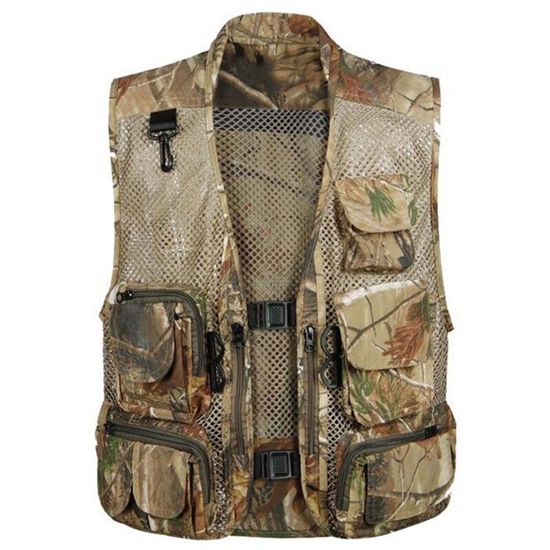 2016 Style européen et américain hommes gilet Style militaire Outwear hommes travail gilets Cargo Muti poche gilet photographie S951