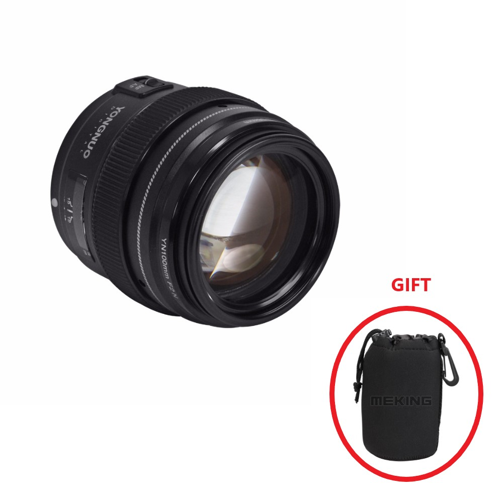 Yongnuo 100 MM F2 objectif grande ouverture AF/MF moyen téléobjectif Len YN100mm pour Nikon D7200 D7100 D7000 D5600 pour Canon EOS
