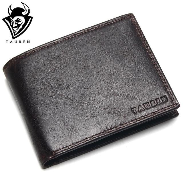 Small Vintage Wallet Brand High Quality Vintage Designer 100% Genuine Crazy Horse Cowhide Leather Men Short Coin Purse Wallet