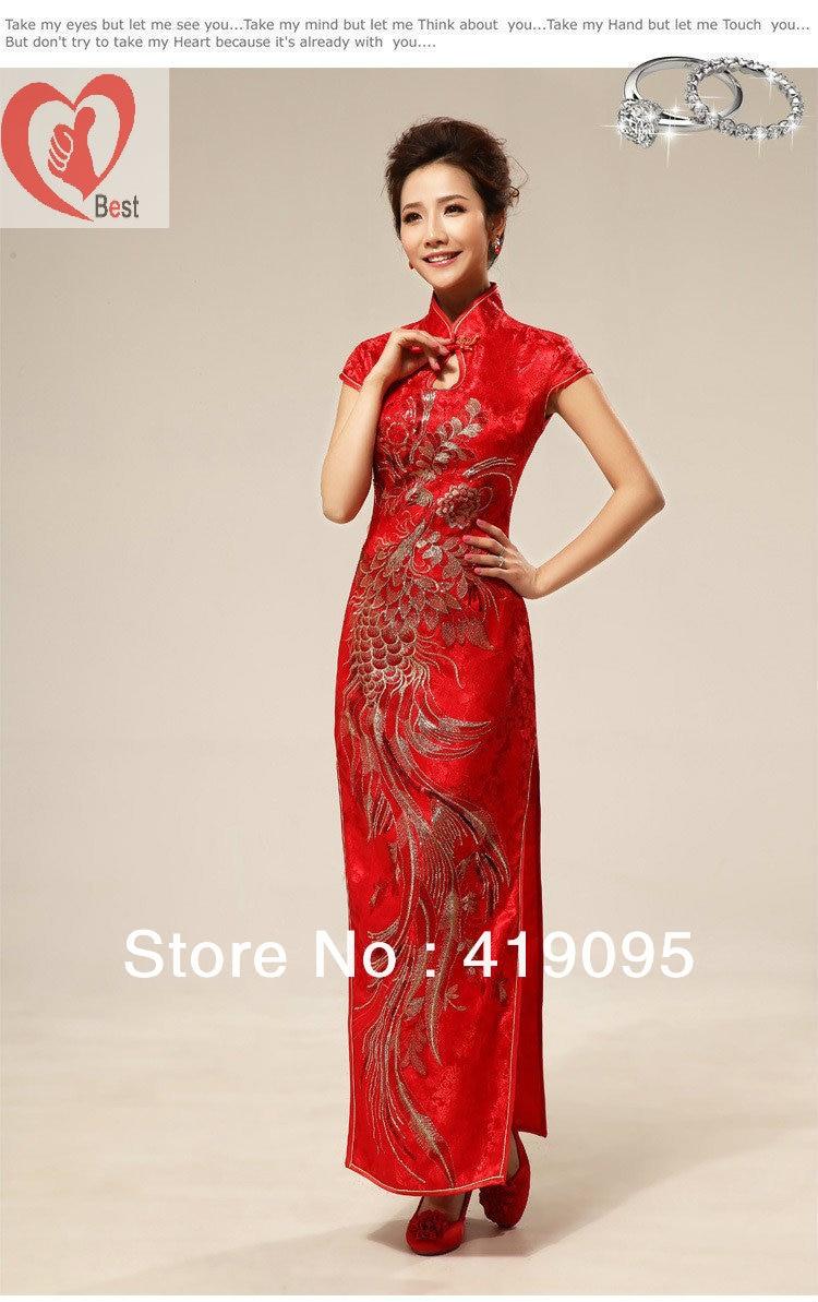 traditional chinese clothing wedding dress cheongsam