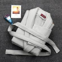 Winter Men Bathrobe luxury cotton Sleepwear Thicking Mens Warm Spa Pajamas Male Long Sleeve Belt Solid Soft Homewear
