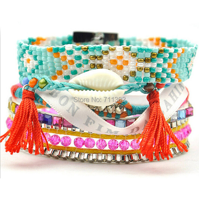 2015 handmade multi strand wristband Bohemian bracelets Ipanema Brazilian Bracelet friendship boho Bracelet woman