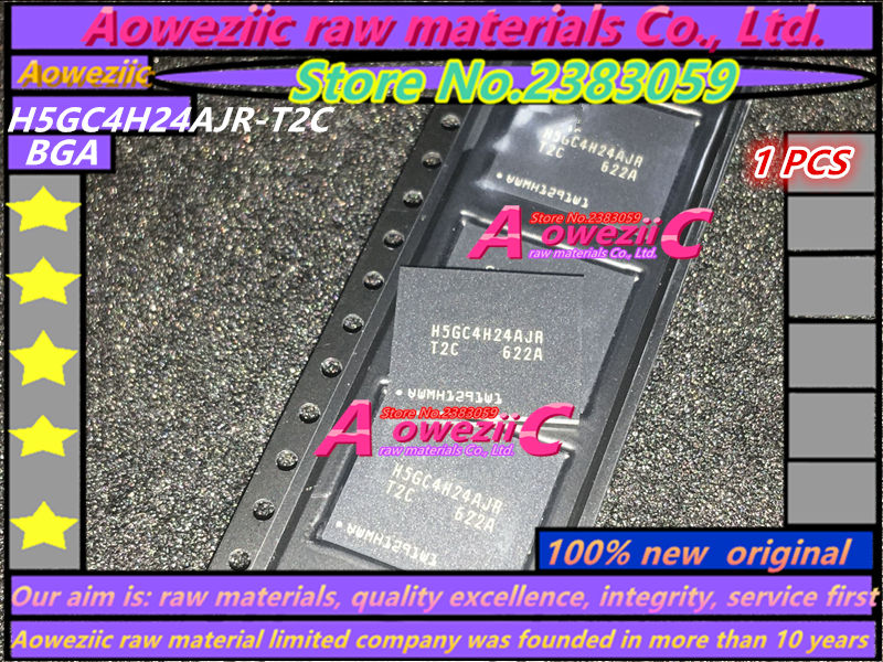 Aoweziic  100%  New Original  H5GC4H24AJR H5GC4H24AJR-T2C BGA DD5 Memory Card Chip 4G