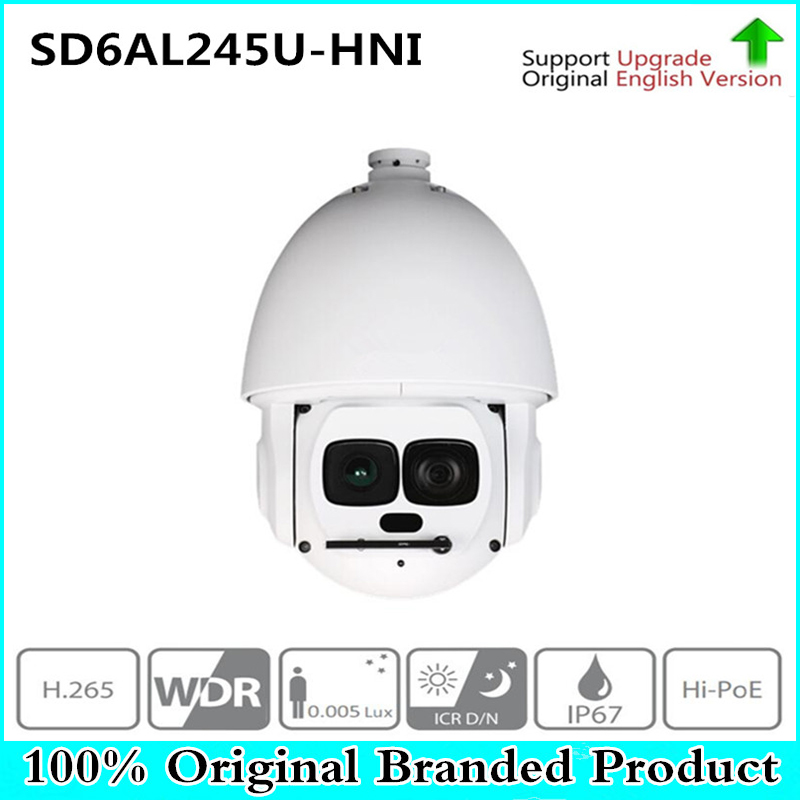 Original DH versión inglesa SD6AL245U-HNI 2MP 45x Starlight láser PTZ cámara de red envío gratuito DHL
