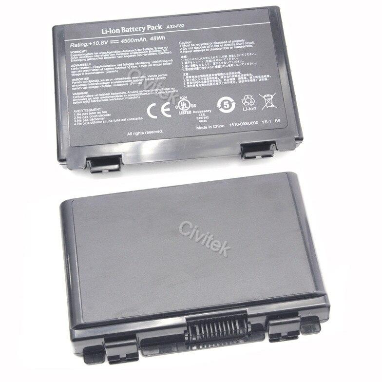 סוללה של מחשב נייד Asus A32-F52 A32-F82 L0690L6 L0A2016 F82 K40 K50 K51 K60 K61 K70 P81 X5A X5E X70 X8A K50IJ K50ab
