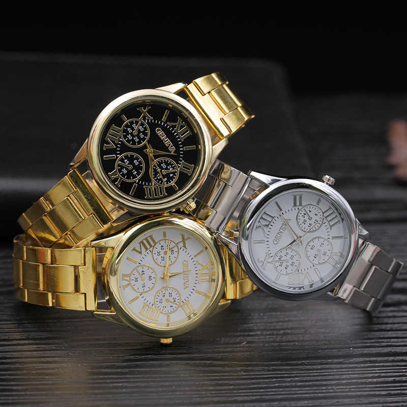 Relogio Feminino 2020 ใหม่แบรนด์นาฬิกาควอตซ์แฟชั่นเจนีวาผู้หญิงนาฬิกา Casual สแตนเลสสตีลนาฬิกาข้อมือสตรี