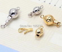 Lantern shape insert clasp of high-grade gold pearl necklace bracelet DIY accessories round ball
