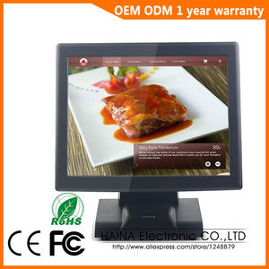 Image 3 - هينا تاتش 15 بوصة تعمل باللمس سوبر ماركت آلة تسجيل النقود بمنافذ البيع للبيع ، نظام POS الكل في جهاز كمبيوتر واحد