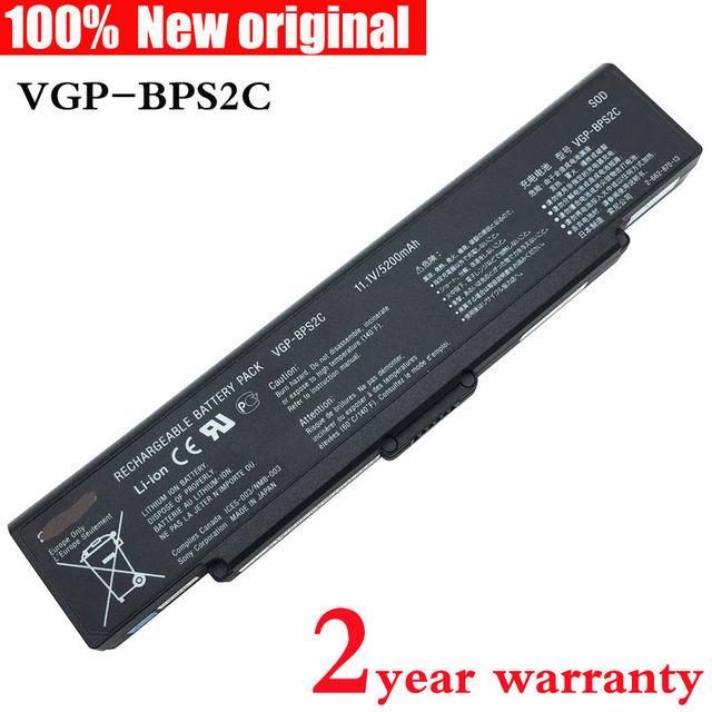 Vgp-bps2c batería original del ordenador portátil para sony vaio bps2 vgn-ar21 vgn-c51 vgn-ar11 vgn-ar vgn-c11c/b pcg-6p1l vgn-ar91s vgc-lb51