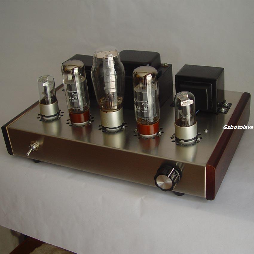 2017NEW Finished El34 Single-Ended Class A 5Z3P+6N9P+EL34 Vacuum Tube Amplifier цена
