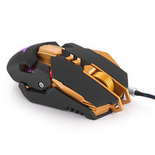Original Combaterwing W50 Wired Game Mouse deesktop laptop game mouse 7 Button With Weight 4 Colors Breathing Led Light