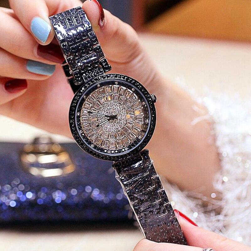 Moda luxo analógico quartzo relógios de pulso feminino senhoras bling diamantes relógio de cristal presente relogio feminino dropshipping 2019