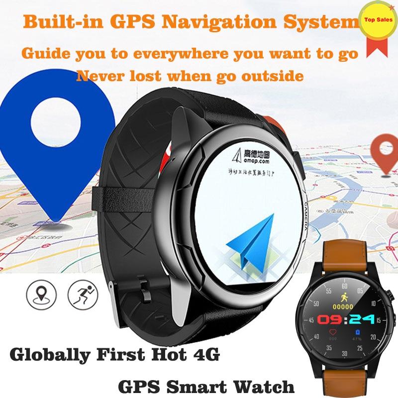 Новый android 7,1 Смарт часы gps MTK6739 3 ГБ + 32 ГБ smartwatch 4 г часы 2MP камера Большой Батарея Wi Fi бизнес наручные pk kw88 I8