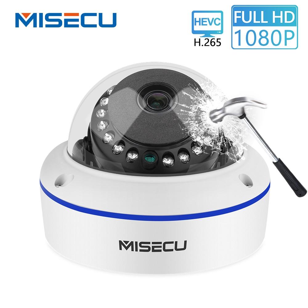 MISECU 48 V POE H.265/H.264 Dome IP Kamera 2,8mm Vandalproof 2.0MP 1.0MP Überwachung Video Kamera Full HD ONVIF P2P E-mail Alarm