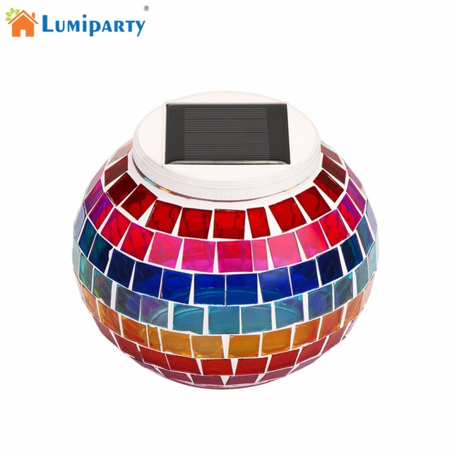 lumiparty outdoor indoor waterproof portable solar led light broken glass jar lamp lawn porch christmas decoration - Outdoor Porch Christmas Decorations