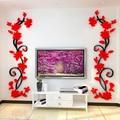 Acrílico flor de rose pegatinas de pared extraíble tatuajes de pared diy arte decoración mural decoración para el hogar