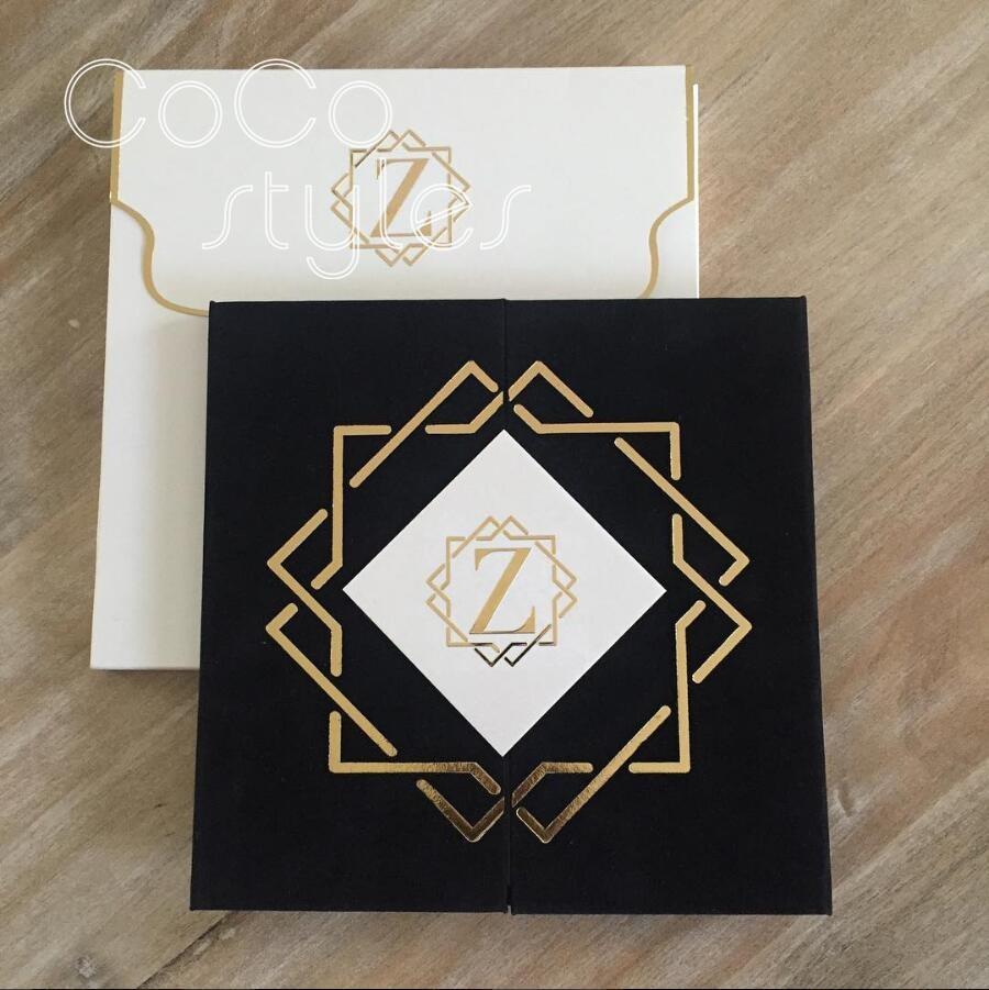 Papierumschläge 5 Stücke Schöne 250g Schwarz Rot Blau Blank Nette W41 Einladung Box Paket Kraft Papier Umschlag Mit Band