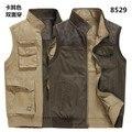 Envío gratis a estrenar más el tamaño grande 5xl 6xl 7xl 8xl doble lado de algodón para hombre Chaleco de la capa tops marca AFS JEEP militar de algodón ejército