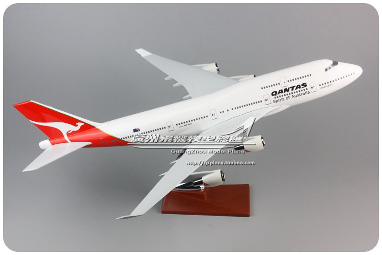 47cm Australia Airlines Boeing 747 Airplane Model QANTAS Air Australia Resin Aircraft Model B747-400 VH-OJK Airways Airbus Model phoenix 11074 vietnam airlines vh a143 1 400 b777 200er commercial jetliners plane model hobby