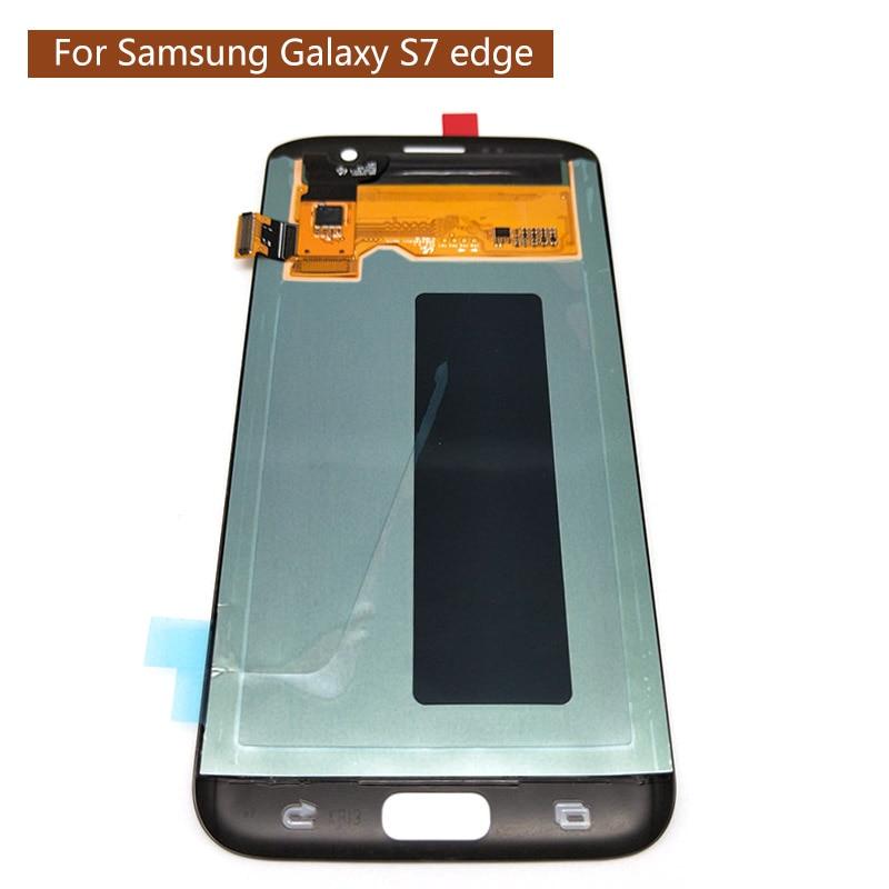 D'origine Super AMOLED 5.5 ''Écran Pour SAMSUNG Galaxy S7 bord LCD Affichage G935 G935F Tactile Digitizer Assemblée Pièces De Rechange