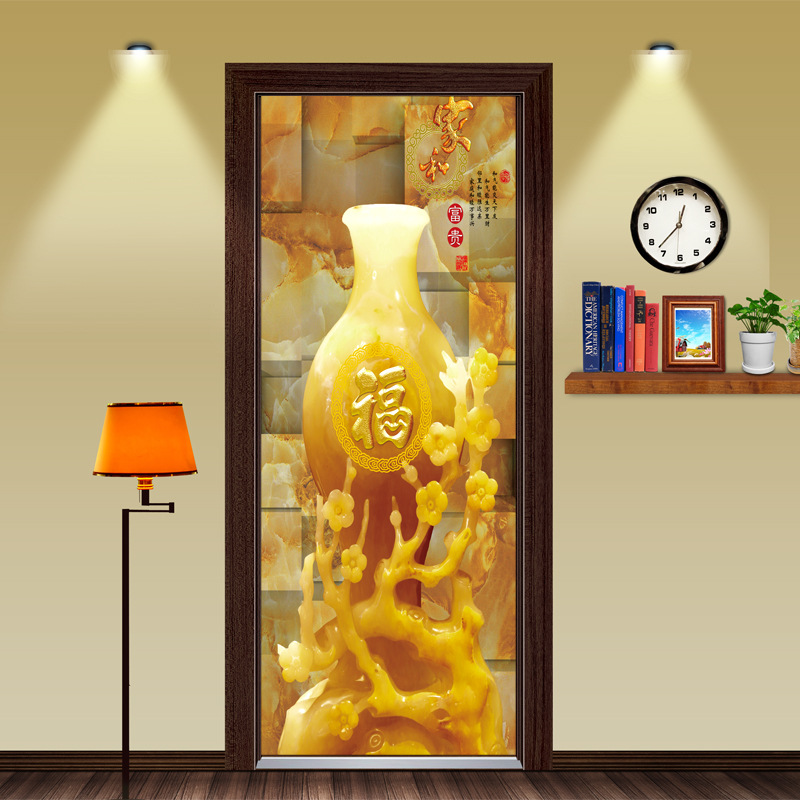 3D DIY Vivid Chinese New Year Decorations FU Word Wall Mural Door Wall Living Room Kids Bedroom Home Decoration Gifts