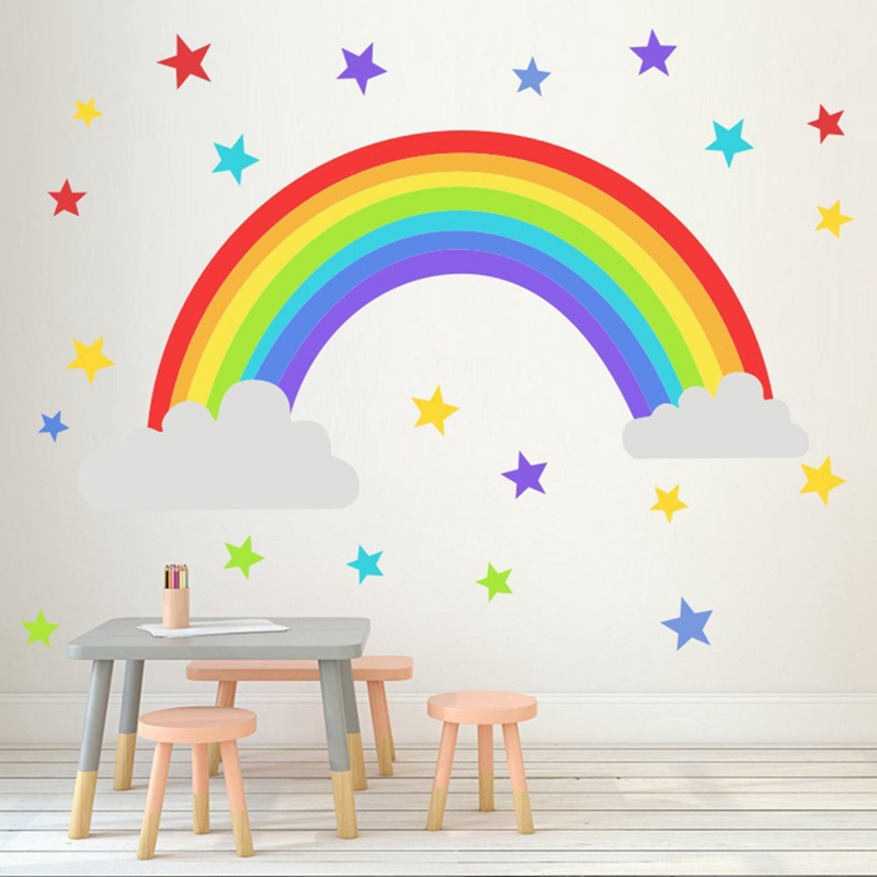 DIY Circles Wall Stickers Kids Bedroom Decoration Removable 3D Art Wall Stickers