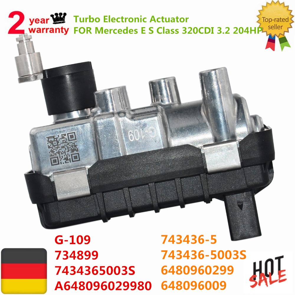 AP03 Pour Mercedes W211 W221 E Classe S 320CDI 3.2 204HP 743436 G-109 G109 Turbo Actionneur Électronique 6480960099 6480960299