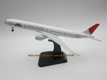 19cm Metal Alloy Plane Model Air JAL Japan Airlines B777-300ER Aircraft Boeing 777 Airways Airplane Model w Stand Wheels