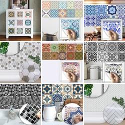 Funlife 10pcs Wholesale PVC Waterproof Self adhesive Furniture Kitchen Mediterranean Moroccan Arab Herringbone Tile Sticker
