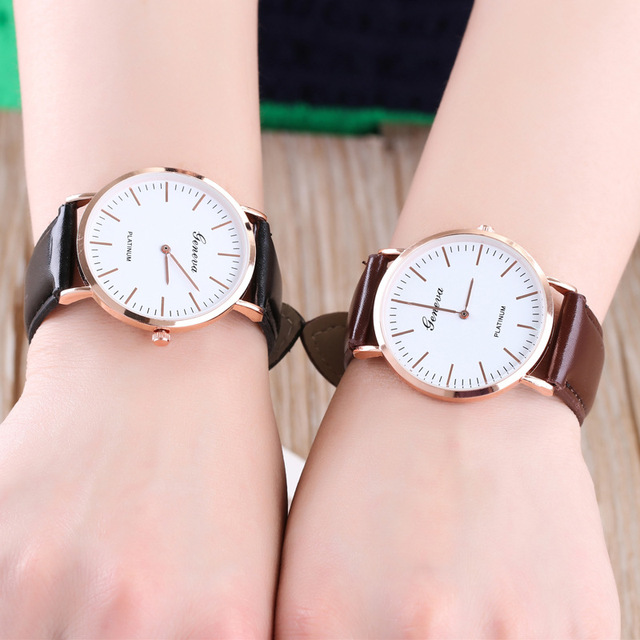 cd5b06dd07b83 2018 Fashion Ladies Watch The Fashion Trend of The Super Thin Men and  Women s Real Skin