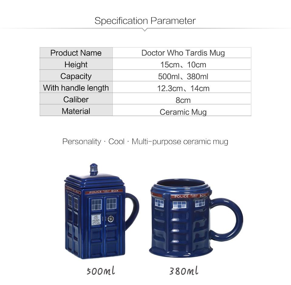 Doctor Who Tardis Police Box Ceramic Mug Cup With Lid Cover For Tea Coffee Mug Funny Creative Gift Christmas Presents Kid Men (1)