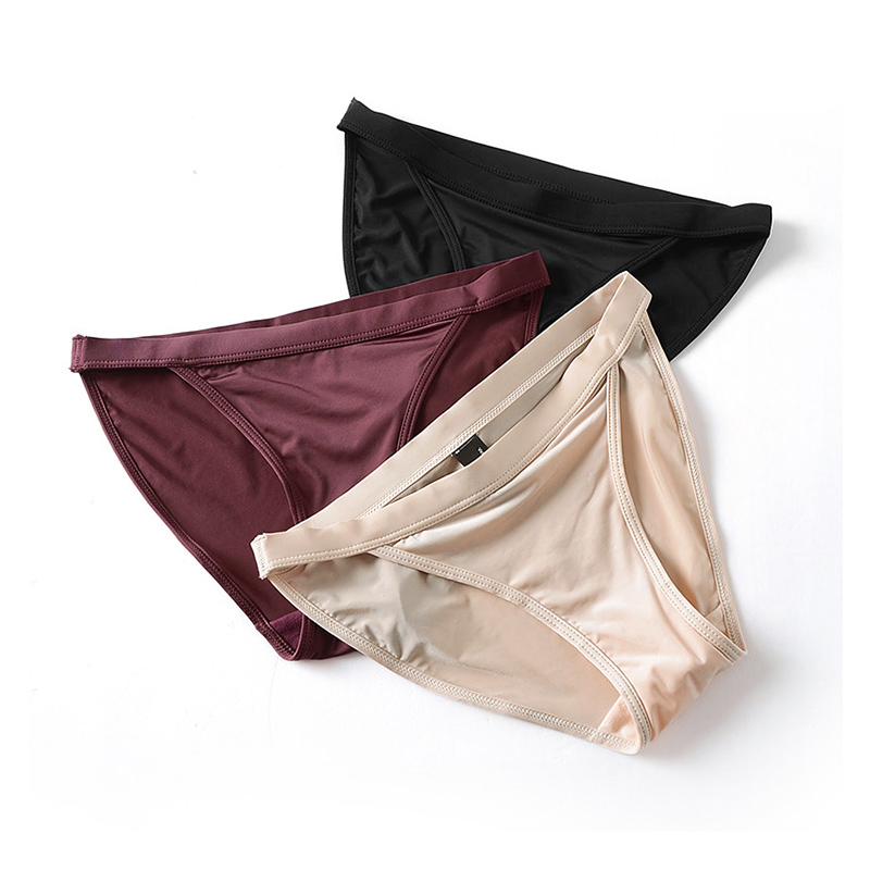 Ice Silk Seamless   Panties   New 2019 Women Underwear Comfort Intimates Fashion Female Low-Rise Briefs Lingerie Drop Shipping