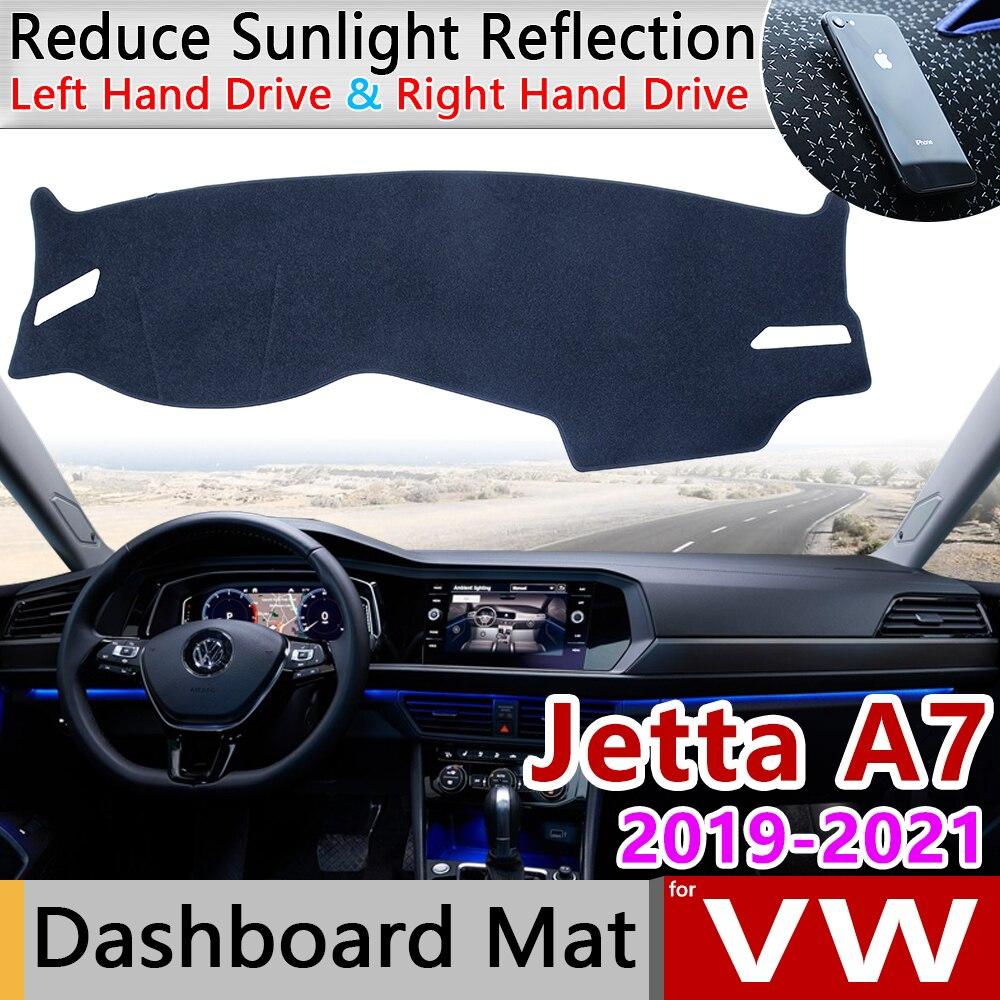 For Volkswagen VW Jetta 7 A7 MK7 2019 2020 2021 Anti-Slip Mat Dashboard Cover Pad Sunshade Dashmat Protect Dash Car Accessories