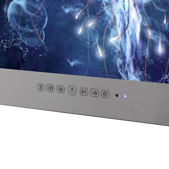 Souria 15.6 inch Android 9.0 Bathroom LED TV IP66 Waterproof Hotel Vanishing WIFI HD (Magic Mirror /Black /White) 6