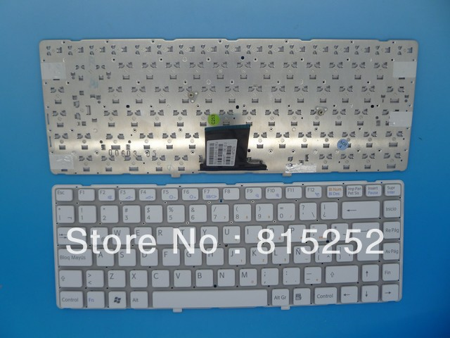 Laptop Keyboard For SONY Vpc-Ea White(Without Frame) Latin La V081678f 148792751 laptop keyboard for sony svf13n black without frame sk slovakian 9z nabbq 209